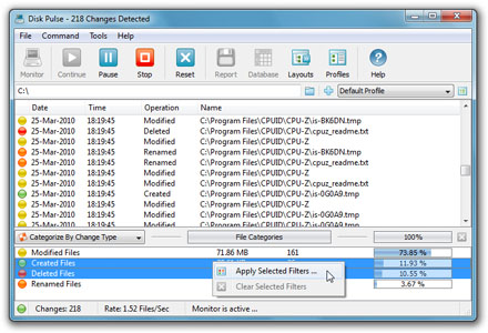 Disk Pulse Pro x64 full screenshot