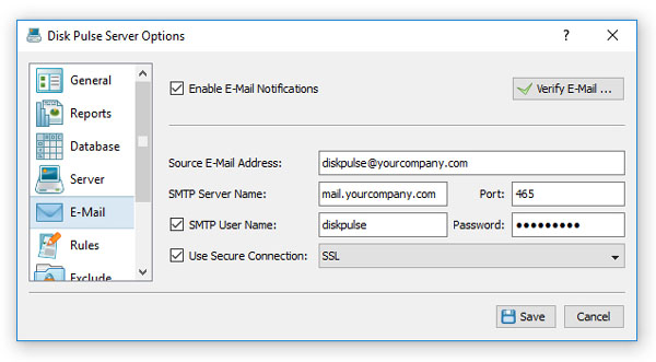 how to change email server
